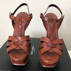YSL Yves Saint Laurent Tribute brown heels 37